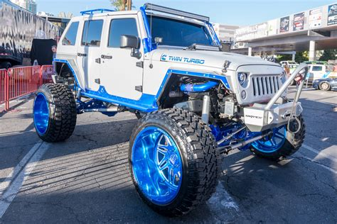 linex jeep blue wrangler is king custom builds of the road icon