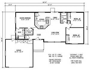 3 bedroom rambler floor plans design lines inc plan 1274 rambler