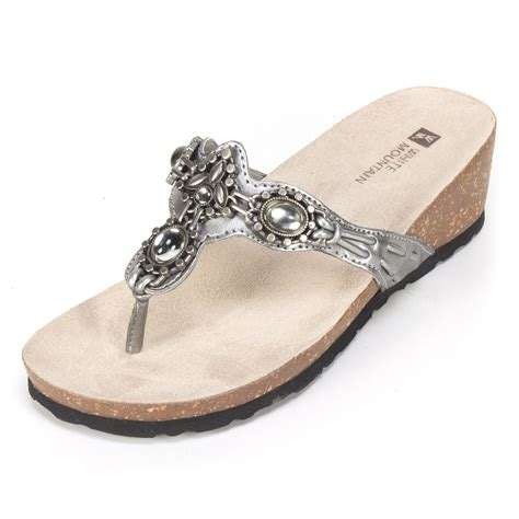pewter color sandals white mountain shoes cardenia pewter metallic sandal