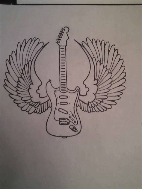 Simple Guitar Tattoo Design | guitar tattoos and designs page 25