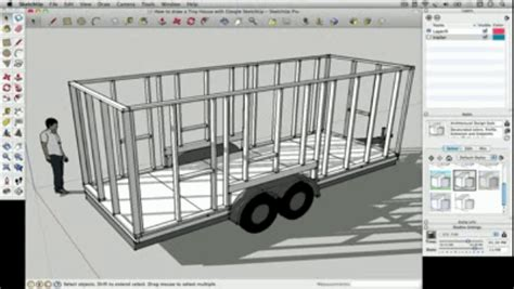 home design software google sketchup how to draw a tiny house with google sketchup part 1