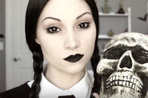 eyeliner tutorial for halloween wednesday addams halloween makeup tutorial makeup