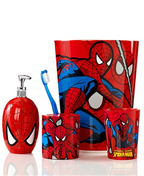 marvel superhero bathroom accessories marvel bath accessories spiderman sense collection