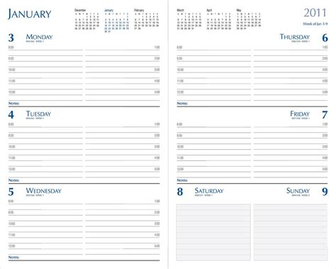 free printable monthly planner refills 9 best images of 5 5 x 8 5 free printable daily planners
