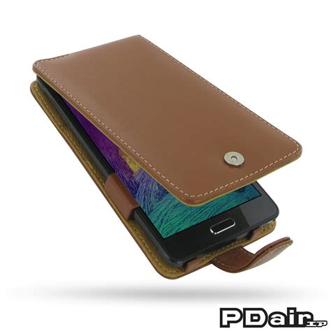 Samsung Galaxy Note 4 Wallet Flip Leather Sarung Dompet Original samsung galaxy note 4 leather flip brown pdair sleeve pouch