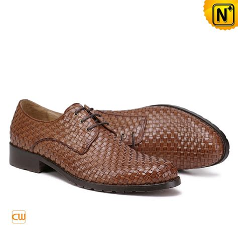 mens woven leather oxford dress shoes cw762019