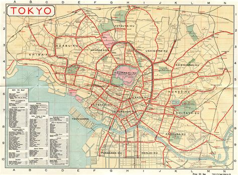 map of tokyo tokyo tourist map 1918 flickr photo