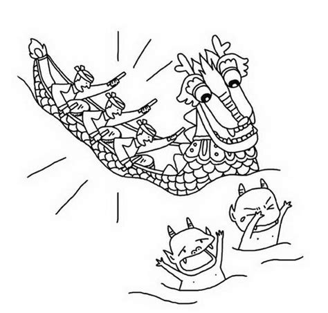 dragon family coloring page dragon boat festival free coloring pages