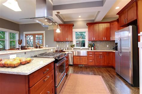 natural cherry kitchen cabinets natural american cherry shaker pius kitchen bath
