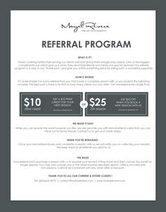 free referral card templates for cleaning 1000 images about photography referal on