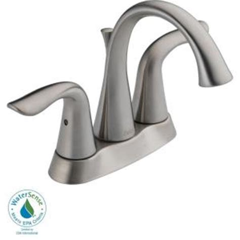 delta lahara 4 in 2 handle high arc bathroom faucet in
