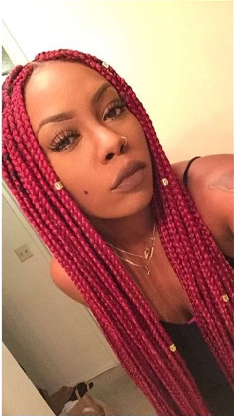 gold on top red on bottom box braids 30 awe inspiring red box braids hairstyles you will love