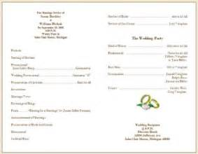wedding bulletin templates wedding collection nowadays wedding program sles