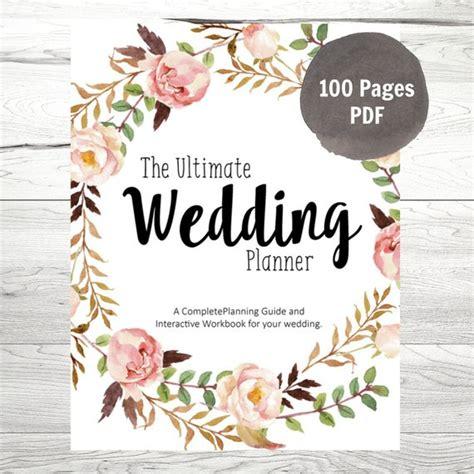 wedding planner printable wedding planner