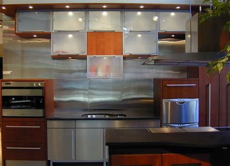 custom kitchen backsplash stainless steel backsplashes custom