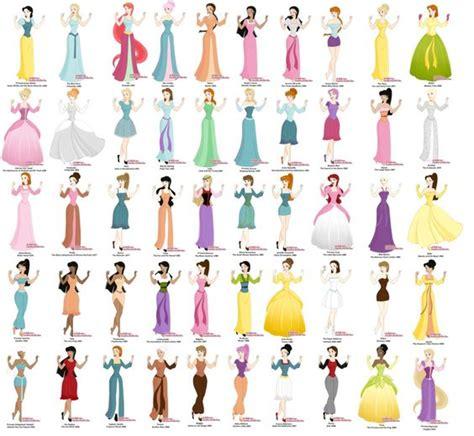 All Disney Princesses Ever Made   Princess maker  Disney's 50 by Failinginart   Disney