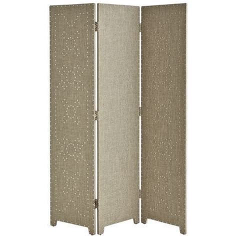 Quot Lexford Quot Chrome Studded Linen Room Divider Pier 1 Pier One Room Dividers