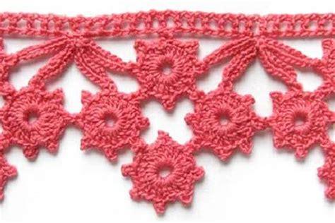 flower pattern edge mypicot free crochet patterns crocheted edgings