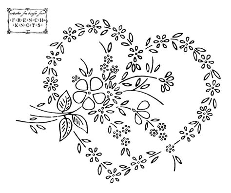 Machine Embroidery Designs For Kitchen Towels embroidery transfer patterns flowers baskets hearts