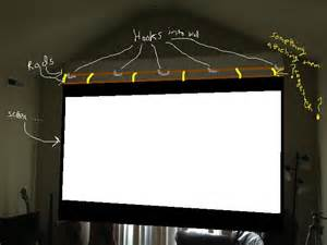 Trying to diy a pull down non fixed projector screen