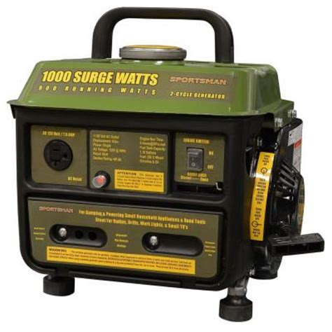 sportsman 1 000 watt 2 stroke gasoline powered portable