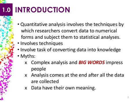 Mba Quantitative Analysis Notes by Quantitative Data Analysis