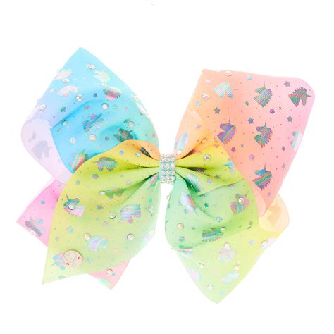 Jojo Siwa Bow By Timorashop jojo siwa pastel ombre unicorn hair bow s