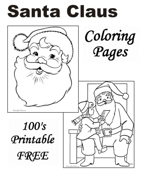 free coloring pages of letters to santa free coloring pages of santa and dog