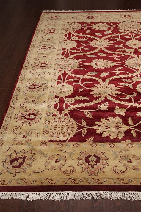 rugsville traditional wool gold rug 8 x 10