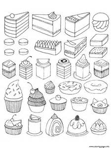 cupcakes cakes coloring pages printable