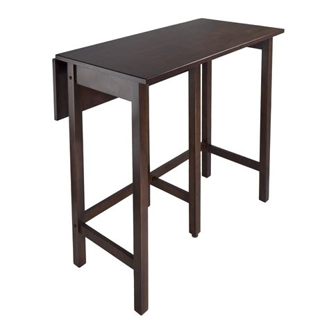 Counter Height Bistro Table Winsome Lynnwood Drop Leaf Counter Height Pub Table Bar Pub Tables At Hayneedle