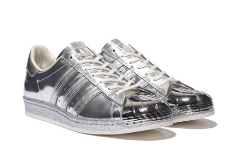 Adidas Silver adidas superstar 80s metallic silver herbusinessuk co uk
