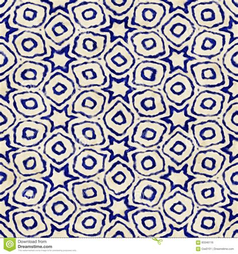 Batik Blue Tribal batik tribal tile pattern stock photography