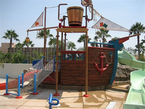 pirate ship swing set up close and personal view of the pirate ship at castaway
