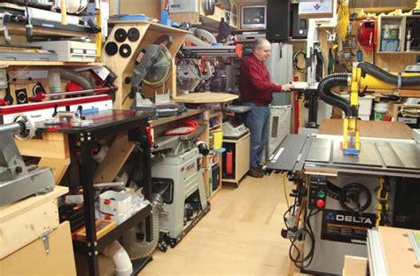 one car garage workshop a one car garage dream shop canadian woodworking magazine
