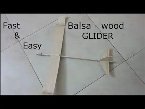 balsa glider  flies  feet build
