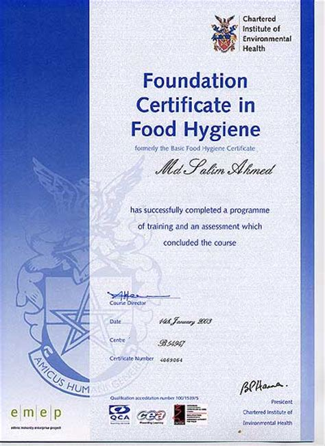 foundation certificate in food hygiene for mr india newbury finest indian cuisine takeaway