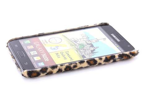 Dus Samsung Galaxy Note 1 N7000 leopard fur hoesje voor samsung galaxy note n7000