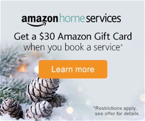 Amazon Gift Card Services - free 30 amazon gift cards on purchase of amazon home service at 75 always promo off