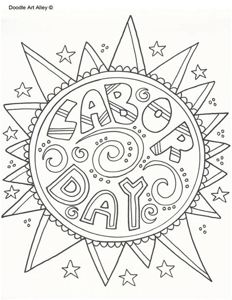 coloring pages for labor day labor day coloring pages doodle art alley