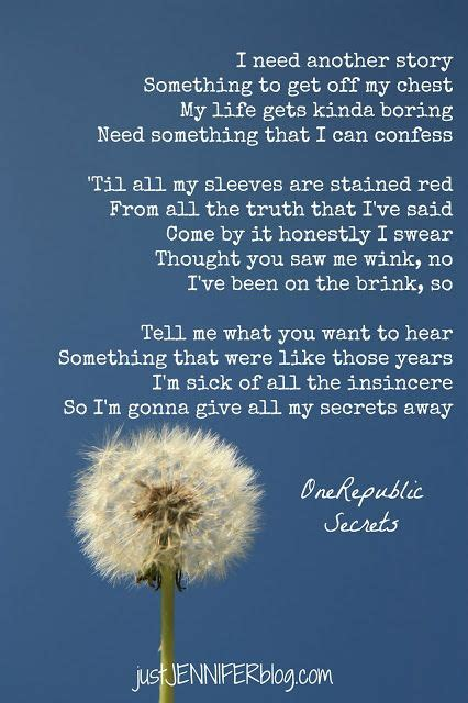 secret lyrics acoustic quote onerepublic quot secrets quot lyrics phrases