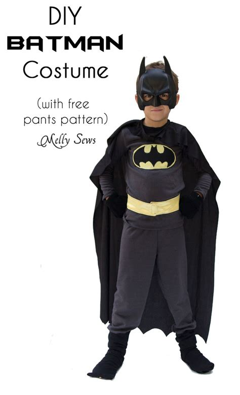 Diy Batman Costume Melly Sews Diy Halloween Outfits For Toddlers