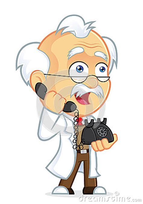 clipart picture professor talking on the phone royalty free stock photo