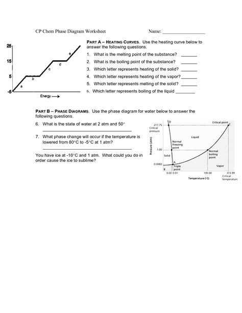 phase diagram worksheet 2 answers 4th grade matter worksheets pictures to pin on