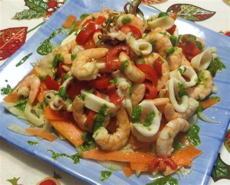 di mare insalata di mare con crudit 224 e pesto ricette della nonna