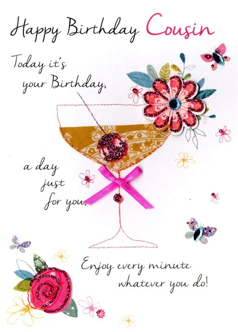 Happy Birthday Wishes For Cousin Female Cousin Happy Birthday Greeting Card Cards Love