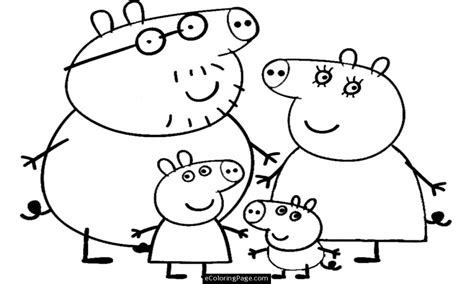 peppa pig characters coloring pages easy pig coloring how to draw peppa grig3 org