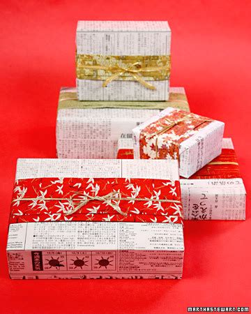 japanese gift ideas japanese newspaper gift wrap martha stewart