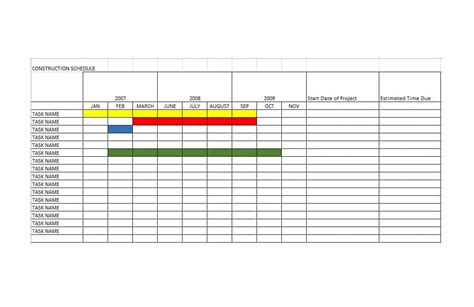 21 Construction Schedule Templates In Word Excel ᐅ Template Lab Construction Project Schedule Template Excel