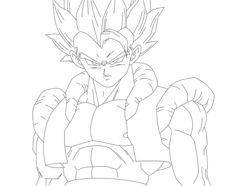 dragon ball z gogeta coloring pages super saiyan 4 gogeta coloring pages